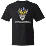 ArtichokeUSA Character and Font design #3. Yankees Owl. NY Yankees Fan Art. Let's Create Your Own Design Today. Thick 100% Cotton T-Shirt