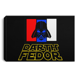 Artichoke Fight Gear Custom Design #15. Darth Fedor. Fedor Emelianenko / Darth Vader Parody. Fan Art Parody. MMA. Landscape Canvas .75in Frame