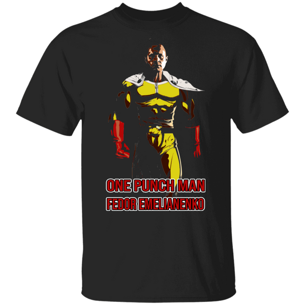 ArtichokeUSA Custom Design #58. One Punch Fedor Emelianenko. One Punch Man Parody. Basic 100% Cotton T-Shirt