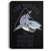 The GHOATS custom design #41. Big Game Take Little Game. Pool/Billiards. Portrait Canvas .75in Frame