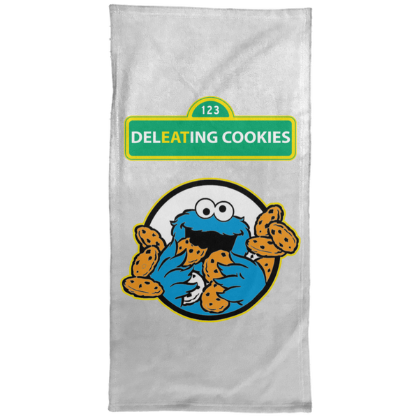 ArtichokeUSA Custom Design #58. DelEATing Cookes. IT humor. Cookie Monster Parody. Hand Towel - 15x30