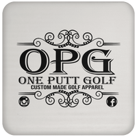 OPG Custom Design #00. OPG - One Putt Golf.  Front and Back Design. Coaster