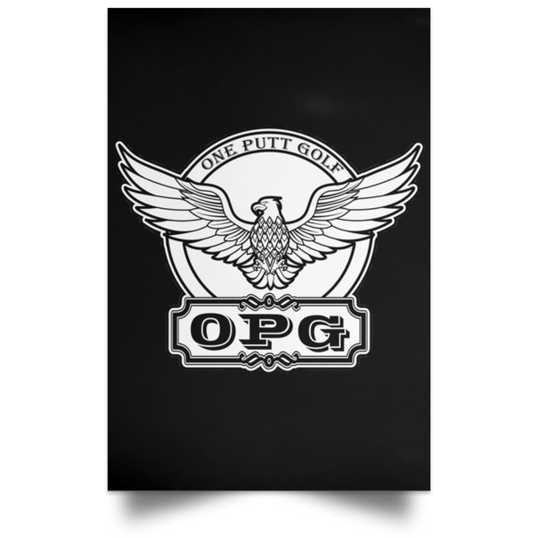 OPG Custom Design #00. OPG - One Putt Golf.  Front and Back Design. Satin Portrait Poster