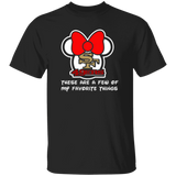 ArtichokeUSA Custom Design #51. These are a few of my favorite things. SF 49ers/Hello Kitty/Mickey Mouse Fan Art. Basic 100% Cotton T-Shirt
