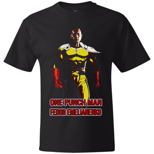 ArtichokeUSA Custom Design #58. One Punch Fedor Emelianenko. One Punch Man Parody. Thick Cotton T-Shirt