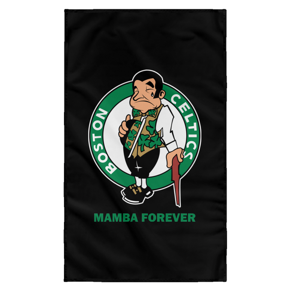 ArtichokeUSA Custom Design #12. RIP Kobe. Mamba Forever. Celtics Fan Art Tribute. Sublimated Wall Flag