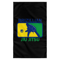 Artichoke Fight Gear Custom Design #5. BJJ MLB Brazil Flag Colors. Parody v2. Sublimated Wall Flag