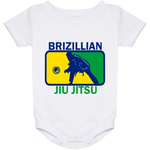Artichoke Fight Gear Custom Design #5. BJJ MLB Brazil Flag Colors. Parody v2. Baby Onesie 24 Month