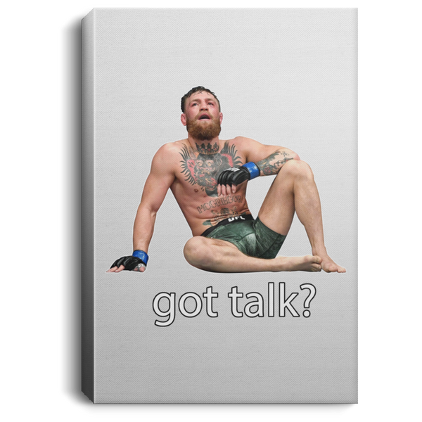 Artichoke Fight Gear Custom Design #12. Got Talk? MMA.  Portrait Canvas .75in Frame