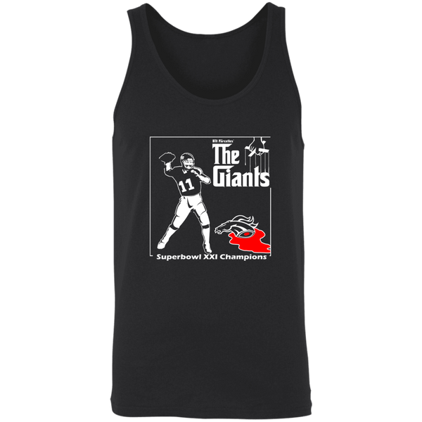ArtichokeUSA Custom Design #41. Godfather Simms. NY Giants Superbowl XXI Champions. Fan Art. 2 Tone Tank