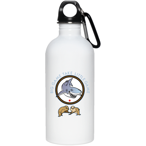 The GHOATS custom design #41. Big Game Take Little Game. Pool/Billiards. 20 oz. Stainless Steel Water Bottle