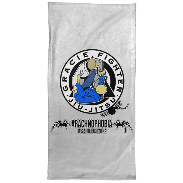 Artichoke Fight Gear Custom Design #1. Arachnophobia. It's A Jiu Jitsu Thing. Spider Guard. BJJ. Hand Towel - 15x30