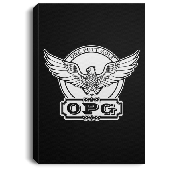 OPG Custom Design #00. OPG - One Putt Golf.  Front and Back Design. Portrait Canvas .75in Frame