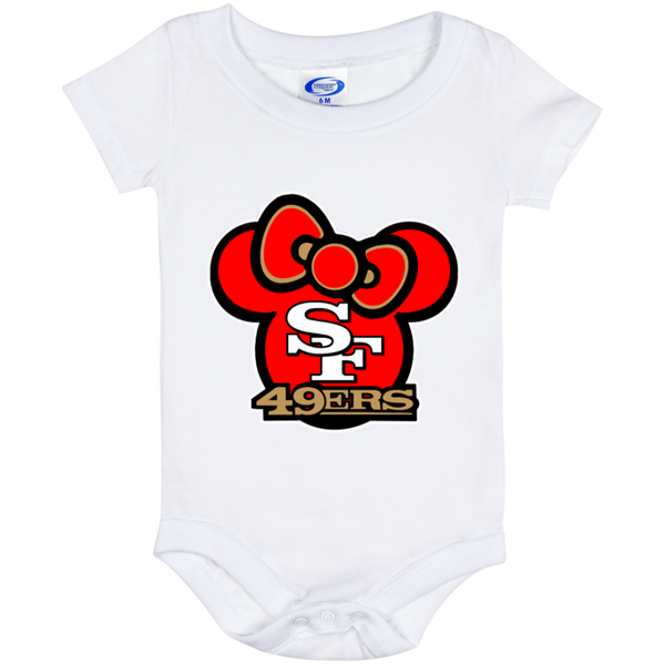 ArtichokeUSA Custom Design #51. Hello 49ers. SF 49ers/Hello Kitty Parody. TV Sports.  Baby Onesie 6 Month