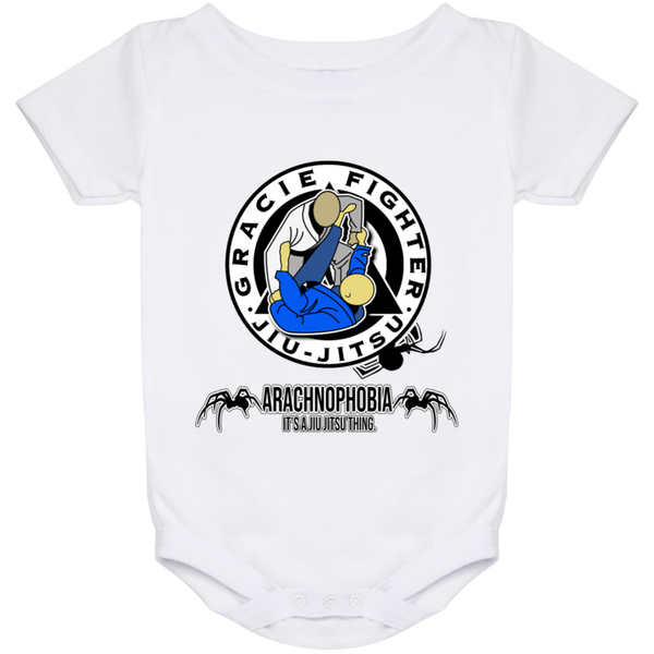 Artichoke Fight Gear Custom Design #1. Arachnophobia. It's A Jiu Jitsu Thing. Spider Guard. BJJ. Baby Onesie 24 Month