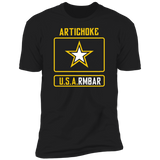 ArtichokeUSA Custom Design #54. Artichoke USArmbar. US Army Parody. Ultra Soft Cotton T-Shirt