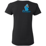 ArtichokeUSA Custom Design #55. DelEATing Cookes. IT humor. Cookie Monster Parody. Ladies' Basic 100% Cotton T-Shirt