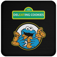 ArtichokeUSA Custom Design #58. DelEATing Cookes. IT humor. Cookie Monster Parody. Coaster