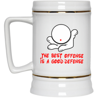 The GHOATS custom design #7. The Best Offence Is A Good Defense. Pool/Billiards. Beer Stein 22oz.