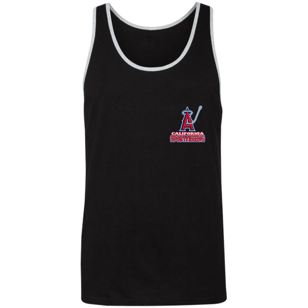 ArtichokeUSA Custom Design #4. Anglers. Southern California Sports Fishing/ Angels Parody. 2 Tone Tank