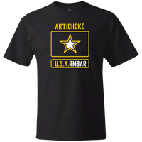 ArtichokeUSA Custom Design #54. Artichoke USArmbar. US Army Parody. Thick Cotton T-Shirt