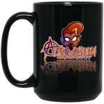 ArtichokeUSA Character and Font Design #1. Let's Create Your Own Design Today. 15 oz. Black Mug