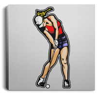 OPG Custom Design #3. Drive like a girl. Golf. Square Canvas .75in Frame