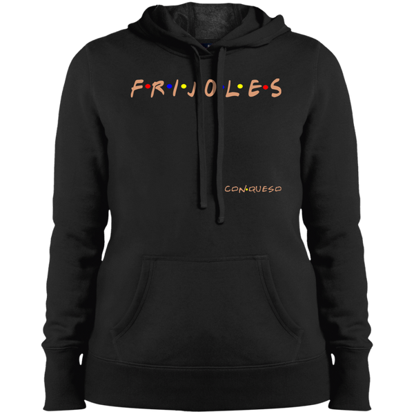 ArtichokeUSA Custom Design #19. FRIJOLES CON QUESO. Friends Parody. Ladies' Soft Style Hoodie