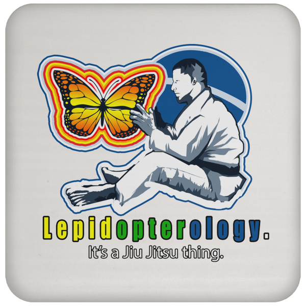 Artichoke Fight Gear Custom Design #7. Lepidopterology: The study of butterflies and moths. Butterfly Guard. It's a Jiu Jitsu Thing. Brazilian Edition. Coaster