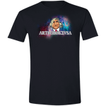 ArtichokeUSA Character and Font design #19. Michio Kaku Fan Art. Let's Create Your Own Design Today. Softstyle 100% Preshrunk Ringspun Cotton T-Shirt