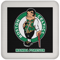 ArtichokeUSA Custom Design #12. RIP Kobe. Mamba Forever. Celtics Fan Art Tribute. Coaster