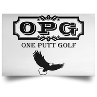 OPG Custom Design #0. OPG - One Putt Golf.  Front and Back Design. Satin Landscape Poster