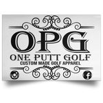 OPG Custom Design #00. OPG - One Putt Golf.  Front and Back Design. Satin Landscape Poster