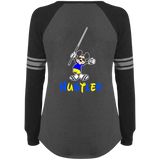 The GHOATS Custom Design #20. Look at the back. Hustle Mouse. Mickey Mouse Fan Art. Ladies' Sports Team Style V-Neck Long Sleeve