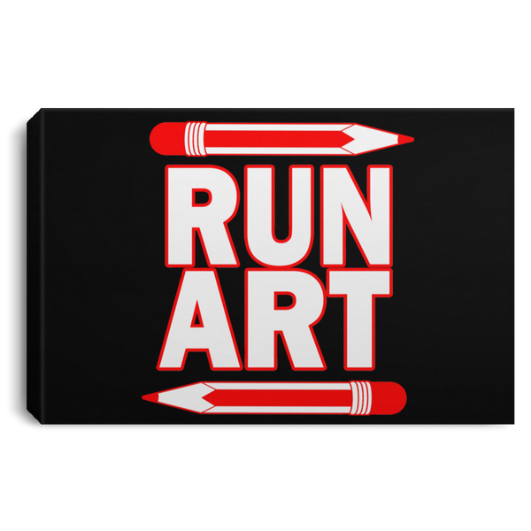 ArtichokeUSA Custom Design #1. RUN ART. Landscape Canvas .75in Frame