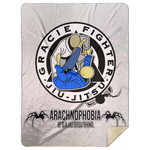 Artichoke Fight Gear Custom Design #1. Arachnophobia. It's A Jiu Jitsu Thing. Spider Guard. BJJ. Premium Mink Sherpa Blanket 60x80
