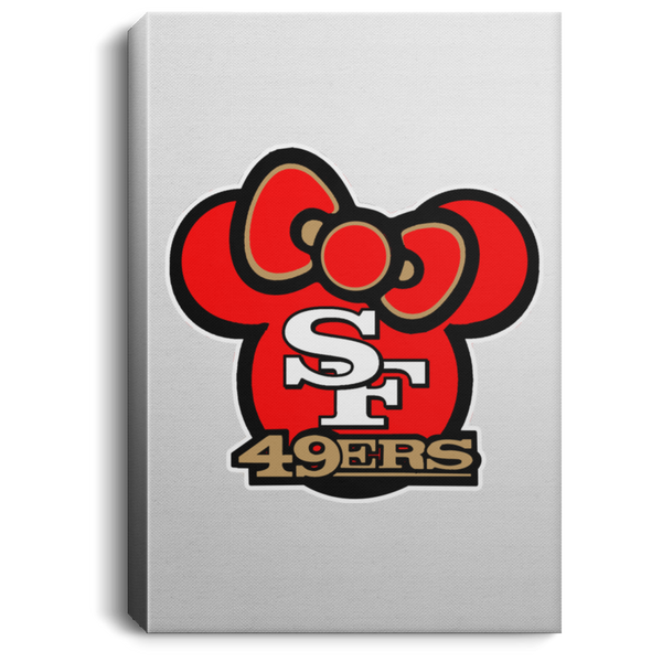 ArtichokeUSA Custom Design #51. Hello 49ers. SF 49ers/Hello Kitty Parody. TV Sports.  Portrait Canvas .75in Frame