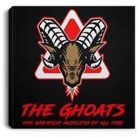 The GHOATS custom design #7. The Best Offence Is A Good Defense. Pool/Billiards. Square Canvas .75in Frame