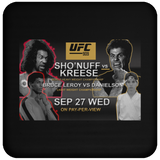 Artichoke Fight Gear Custom Design #15. UFC 909. Sho'Nuff vs Kreese. Co Main Event Bruce Lee Roy vs Danielson. MMA. UFC / The Last Dragon Moive Parody. Movies. TV. Coaster