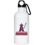 ArtichokeUSA Custom Design #4. California Anglers.California Sportsfishing. Angels of Anaheim from Orange County in California Parody. 20 oz. Stainless Steel Water Bottle