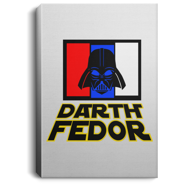 Artichoke Fight Gear Custom Design #15. Darth Fedor. Fedor Emelianenko / Darth Vader Parody. Fan Art Parody. MMA. Portrait Canvas .75in Frame