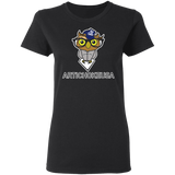 ArtichokeUSA Character and Font design #3. Yankees Owl. NY Yankees Fan Art. Let's Create Your Own Design Today. Ladies' 100% Cotton T-Shirt