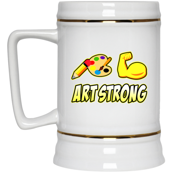 ArtichokeUSA custom design #6. Art Strong. Beer Stein 22oz.