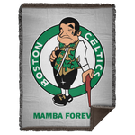 ArtichokeUSA Custom Design #12. RIP Kobe. Mamba Forever. Celtics Fan Art Tribute. Woven Blanket - 60x80