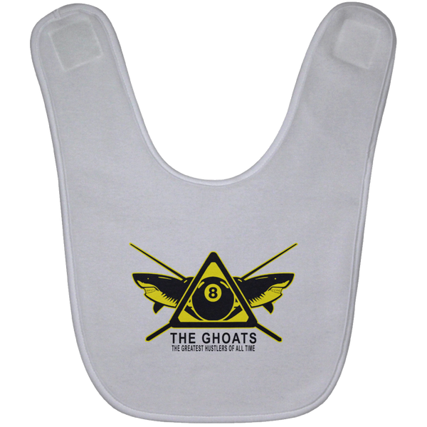 The GHOATS custom design #31. Shark Sighted. Male Pool Shark. Shoot At Your Own Risk. Pool / Billiards. Baby Bib