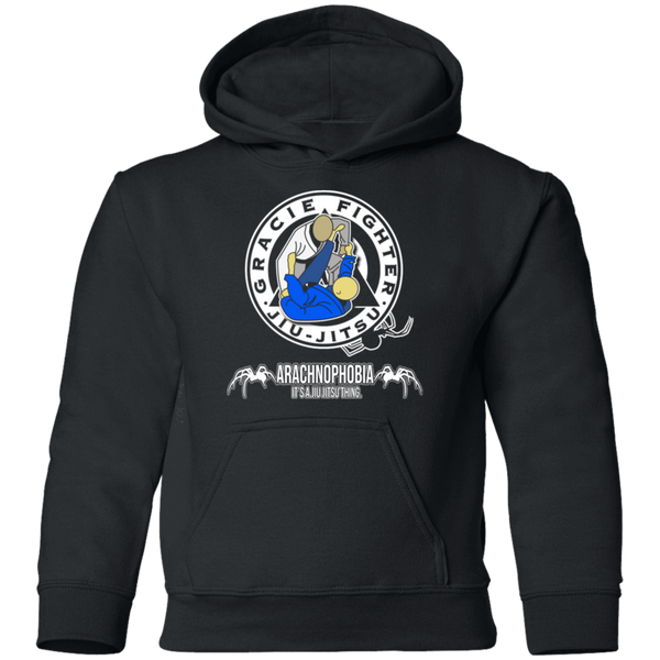 Artichoke Fight Gear Custom Design #1. Arachnophobia. It's a jiu Jitsu Thing. Spider Guard. BJJ. Youth Pullover Hoodie