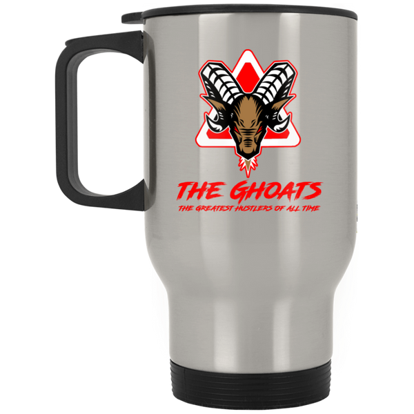 The GHOATS custom design #7. The Best Offence Is A Good Defense. Pool/Billiards. Silver Stainless Travel Mug