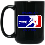 Artichoke Fight Gear Custom Design #2. BJJ MLB Parody v1. 15 oz. Black Mug