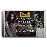 Artichoke Fight Gear Custom Design #15. UFC 909. Sho'Nuff vs Kreese. Co Main Event Bruce Lee Roy vs Danielson. MMA. UFC / The Last Dragon Moive Parody. Movies. TV. Landscape Canvas .75in Frame