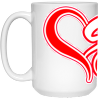 ArtichokeUSA custom design #50. 9ers Love. SF 49ers parody. Sports. 15 oz. White Mug